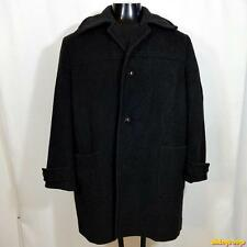 BAVARIA Germany Wool Jacket Loden Coat Men Size S 38 Charcoal gray blanket lined