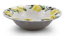 BASSANO gr. runde Oliven Zitronen Schale Ausgefallene italienische Keramik 33x9