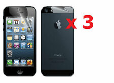 3x Front & 3x Back Clear Invisible LCD Screen Protector for Apple iPhone 5 5G