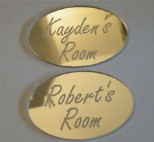 2 x Personalised Door Name Plaques Boy or Girls Bedroom Room Sign