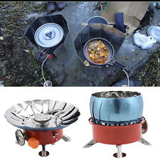 Foldable Lotus Camping Stoves Windproof Camping Burner Outdoor Gas Stove 4000BTU