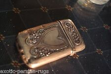 BEAUTIFUL ANTIQUE STERLING SILVER MATCH SAFE BY WEBSTER CO