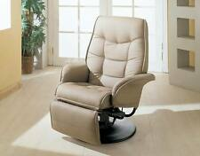 Coaster Berri Swivel Chaise Recliner with Flared Arms in Taupe 7502 - NEW