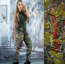 NEW!FIBER Limited Edition Poison Ivy Athletic Spandex Colombian  Leggings Gym