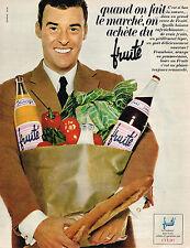 PUBLICITE ADVERTISING 084  1966  EVIAN  eau   FRUITE