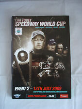 FIM Tobet Speedway World cup programme - Peterborough 13th July 2009