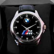 SPECIAL EDITION BMW Car Logo Accesories Leather Round Sport Metal Watch##1