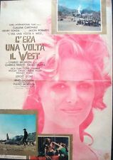 ONCE UPON A TIME IN THE WEST Italian 1F movie poster CLAUDIA CARDINALE LEONE
