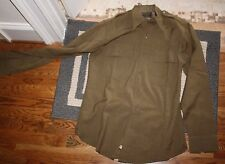 WWII US Army regulation Officers Olive heavy wool form fitted shirt