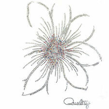 Rhinestone Transfer Hot fix Motif Fashion Design Jewellery  crystal flower Mix