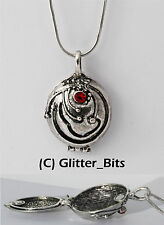 Vampire Diaries Elena Gilbert Antique SILVER Locket Necklace Pendant Vervain