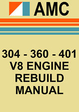 AMC 304 - 360 - 401 V8 ENGINE REBUILD MANUAL
