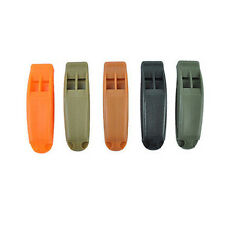Hot Airsoft Tactical  double-frequency Survival Whistle Black/TAN/Orange g76