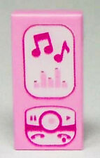 LEGO Friends Minifig PINK 1x2 Tile CELL PHONE, MUSIC MP3 PLAYER iPhone City NEW!