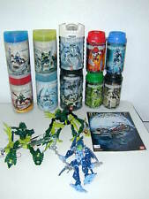 HUGE Lego Bionicle Lot 10 Canisters Plus Extras Figures Excellent!