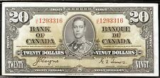 1937 Bank of Canada $20 Note - Coyne/Towers - XF