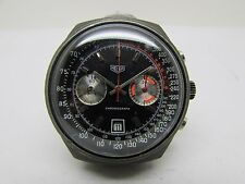 VINTAGE HEUER CHRONOGRAPH RACING PVD VALJOUX 7734  WINDING MEN WATCH
