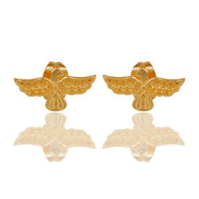 14K Gold Plated Birds Design Tiny Studs Earrings Unique Brass Fashion Jewelry