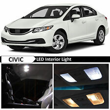 2013-2015 Honda Civic White Interior LED Lights Package Sedan Coupe + FREE TOOL