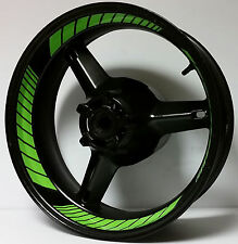 CUSTOM Kawasaki Ninja INNER WHEEL DECALS STICKERS RIM STRIPES ZX636 ZX10R ZX12R