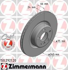 ZIMMERMANN 150.2922.20 REAR BRAKE DISCS PAIR (COAT Z)