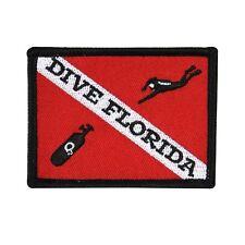 """Scuba Souvenir """"Dive Florida"""" Travel Patch Sport & Recreation Iron-On Applique"""