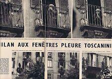 Coupure de presse Clipping 1957 Arturo Toscanni   (4 pages)