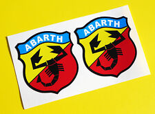 Fiat Abarth Vintage Classic style logo stickers decals punto 500
