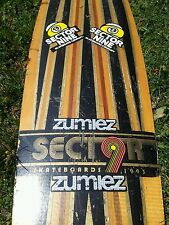 Vintage Sector Nine 9 Skateboard deck  Longboard 1993  inlaid wood stickered