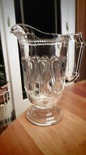 "EAPG - Bryce Brothers - ""Ribbon Candy"" crystal pitcher"