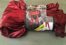 NEW SHINY RED LEGGINGS Large Plus Adult Women Retro 80s Costume Rockstar A21