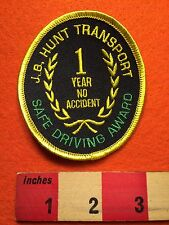 J.B. HUNT Transport Patch ~ 1 Year Safe Driver No Accident Transit Trucking 66WB