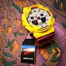 NEAR MINT Casio G-Shock GA-100CS Maroon/Yellow/White Analog Digital Watch Men's