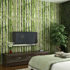 Unusual, Bamboo, Rainforest, Green Wallpaper Suitable for Bathrooms & Kitchens