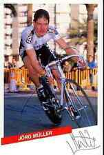 JORG MULLER Signed Autographe cycling Signé team PDM autogramm swiss champion