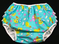Adult Baby Tweetie lace butt PUL diaper cover *MsL BIG TOTS*