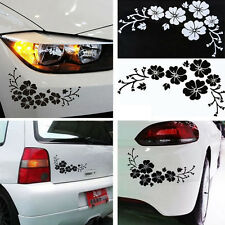 2PCS Floral Flower Stickers Vinyl Graphics Window Auto Car Door Decal Fashion
