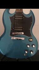 Rare Gibson SG Special electric guitar in blue teal flip-flop