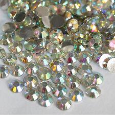 1000X Paillette Ongle Manucure Nail Conseils Art Résine Faux Diamant Strass 2mm