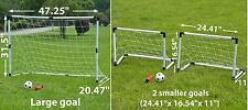 2-in-1 Portable Kids Youth Soccer Goal Net set w Ball/ Pump Sport Training Gift