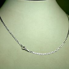 Gorgeous 14k solid white gold 18 inches long 2.2mm Flat Star link chain 1.6gram
