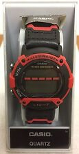 RARE Casio W-92H Model 1817 WR.50m RED ILLUMINATOR
