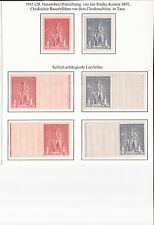 CZECHOSLOVAKIA- 1945 KOZINA ISSUE WITH RIGHT/LEFT BLANK LABELS ( SIGNED )