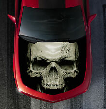 H11 SKULL Hood Wrap Wraps Decal Sticker Tint Vinyl Image Graphic