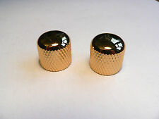 Gold tone & volume domed knob set for Fender Telecaster and other Tele guitars