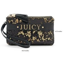 Juicy Couture Sequin Wristlet in Gold Black Sequins -$55.00 Value-New