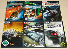 6 PC SPIELE SET NEED FOR SPEED UNDERGROUND 1 & 2 PRO STREET CARBON MOST WANTED