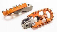 """KTM ,Adventure, Foot Pegs, 5"""", Orange, Dual Sport, Warp 9 all except KTM 690"""