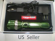 1600 LM Waterproof XML T6 LED Zoomable 18650 flashlight Torch Green US Seller