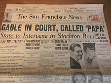 VINTAGE NEWSPAPER-CLARK GABLE COURTROOM PATERNITY DRAMA SAN FRANCISCO NEWS 1937